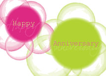 Vibrant Colors Anniversary Card
